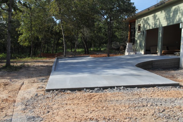 Yippee!  We have a driveway!  The team from Keystone Concrete did an awesome job with the design and installation!