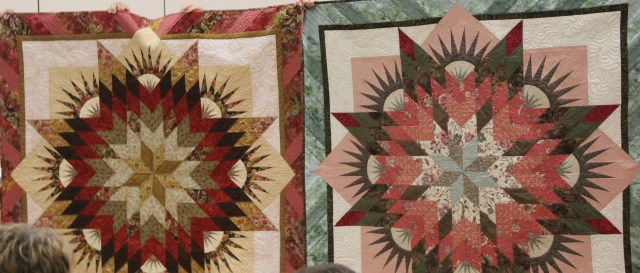 The 2 quilts side by side!
