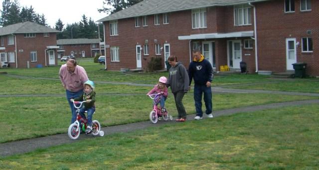 Riding bikes was a family affair!