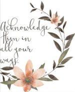 Acknowledge Him
