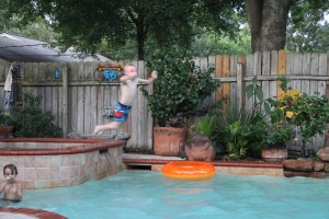 Sorry it is blurry - but this kid is perpetual motion!