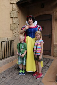 Mr. B will only meet Snow White if sissy is there too!