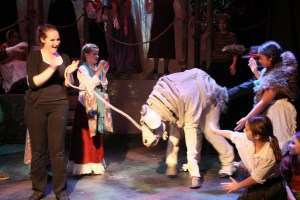 This cow costume was resurrected from a years-old performance - it reminded us of our old dog - I LOVED the COW!!!