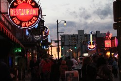 Now the sun is going down and the sky is beautiful. Some awesome neon on Beale Street