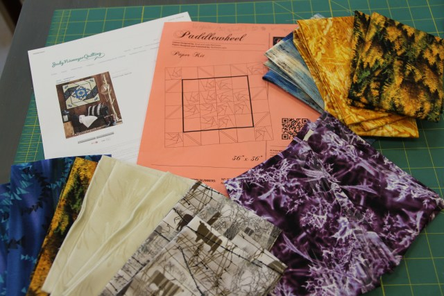 Here is our pattern and some of our fabric choices.