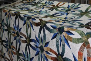 An overall to let you get a feel for the colors in this beautiful quilt.