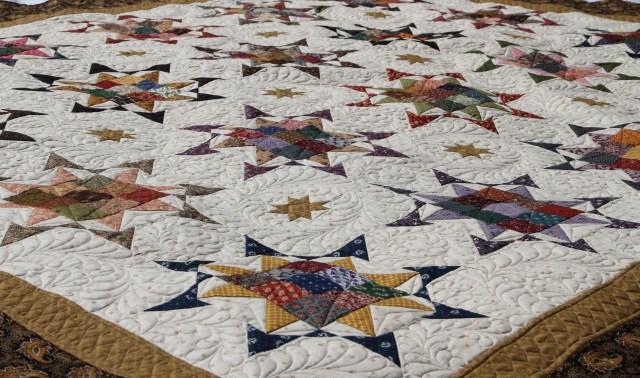 Overall - love how this quilt gets sashed!