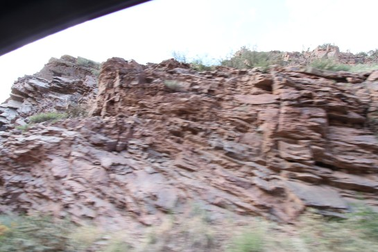 Watch how the geological layers change in this canyon