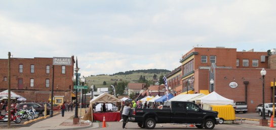 Cripple Creek was having a bike rally to honor Veterans