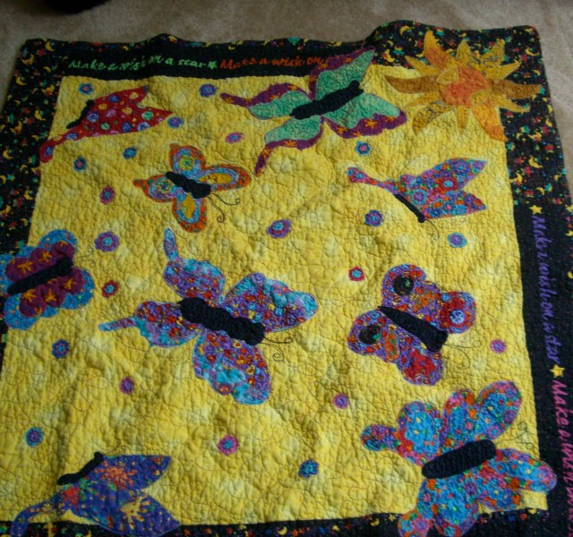 Amazing this quilt is still together - it has probably when laundered 200 times!