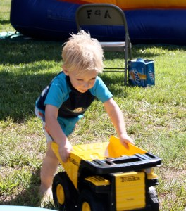 He still plays with this dump truck from his 3rd birthday!
