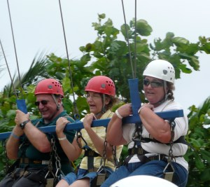 Some more recreations - brother John, me and sister-in-law Edith on the death swing!
