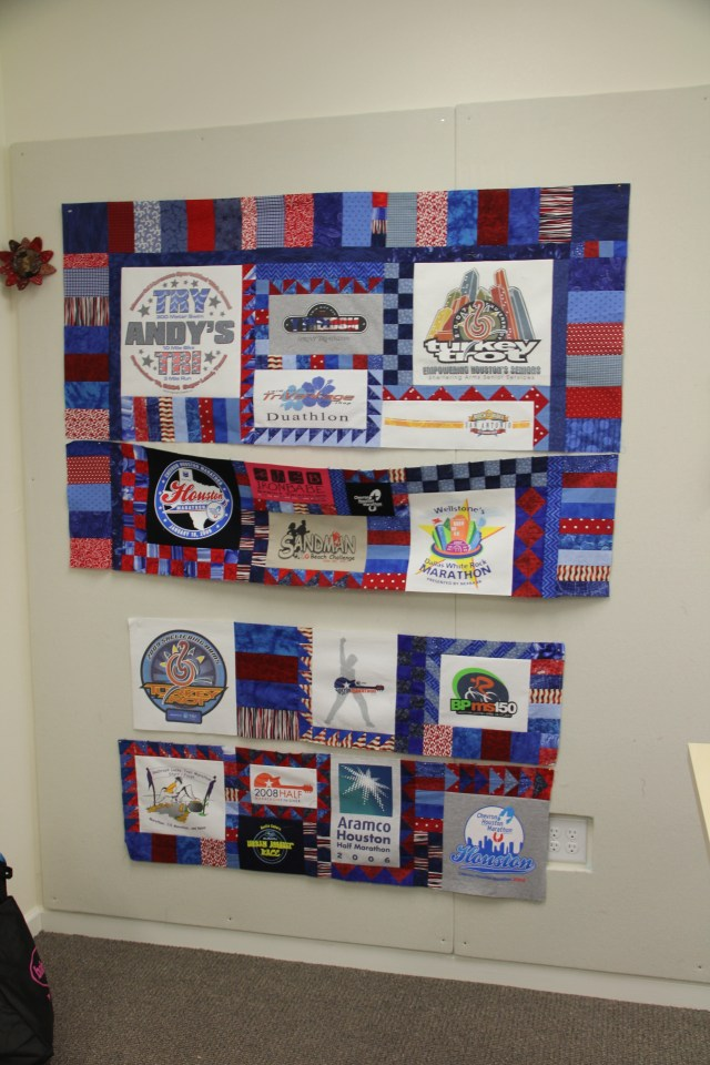 Winnie was working on a T-shirt Quilt - did you know she teaches on Craftsy?