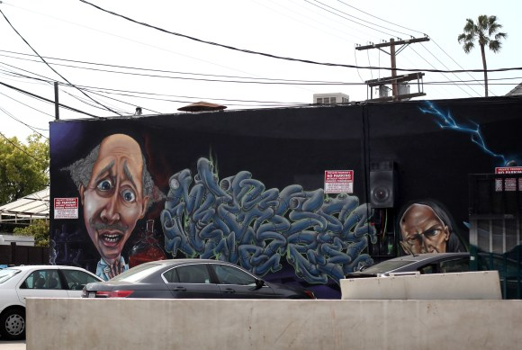 LA is full of vibrant graffiti and street art.