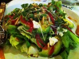 butter lettuce + avocado + goat cheese + quince dressing + marcona almonds