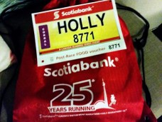 My personalized bib and bag of goodies