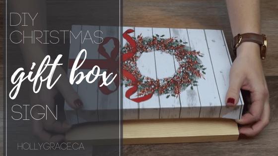 DIY Christmas Gift Box Sign
