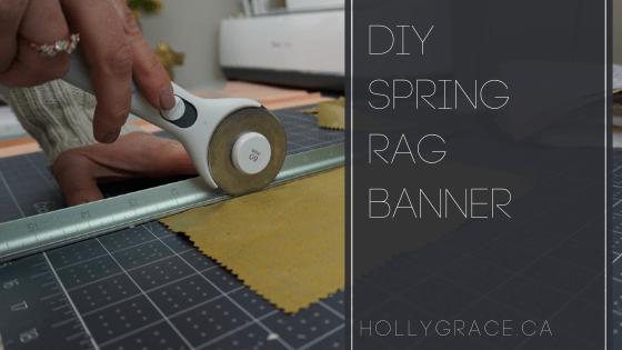 DIY Spring Rag Banner