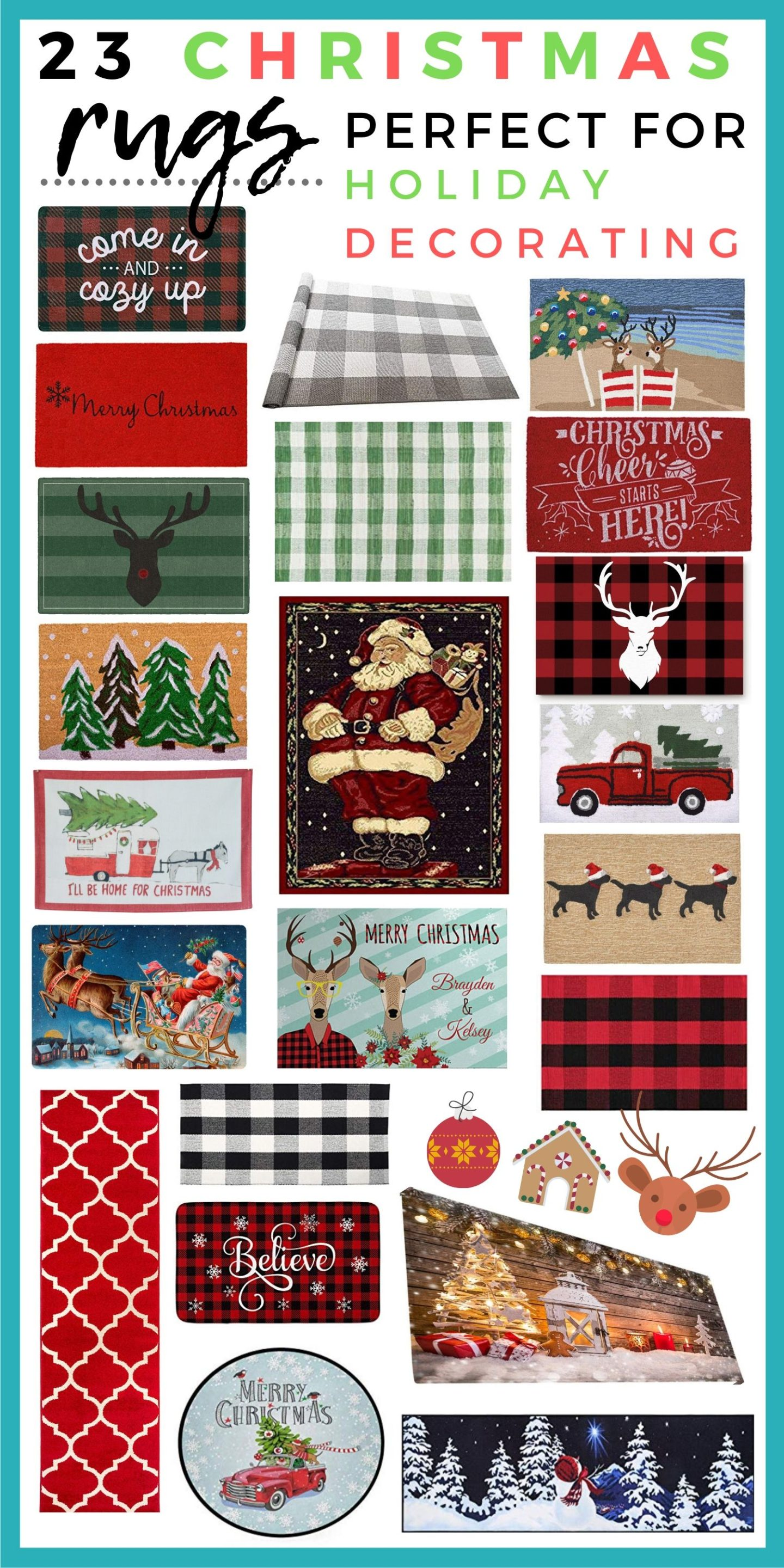 23 Christmas Rugs Perfect For Holiday Decorating Holly Habeck