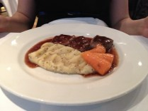 Venison cutlets with mustard mash and chantenay carrots