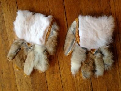 Gloves - inside out - backs