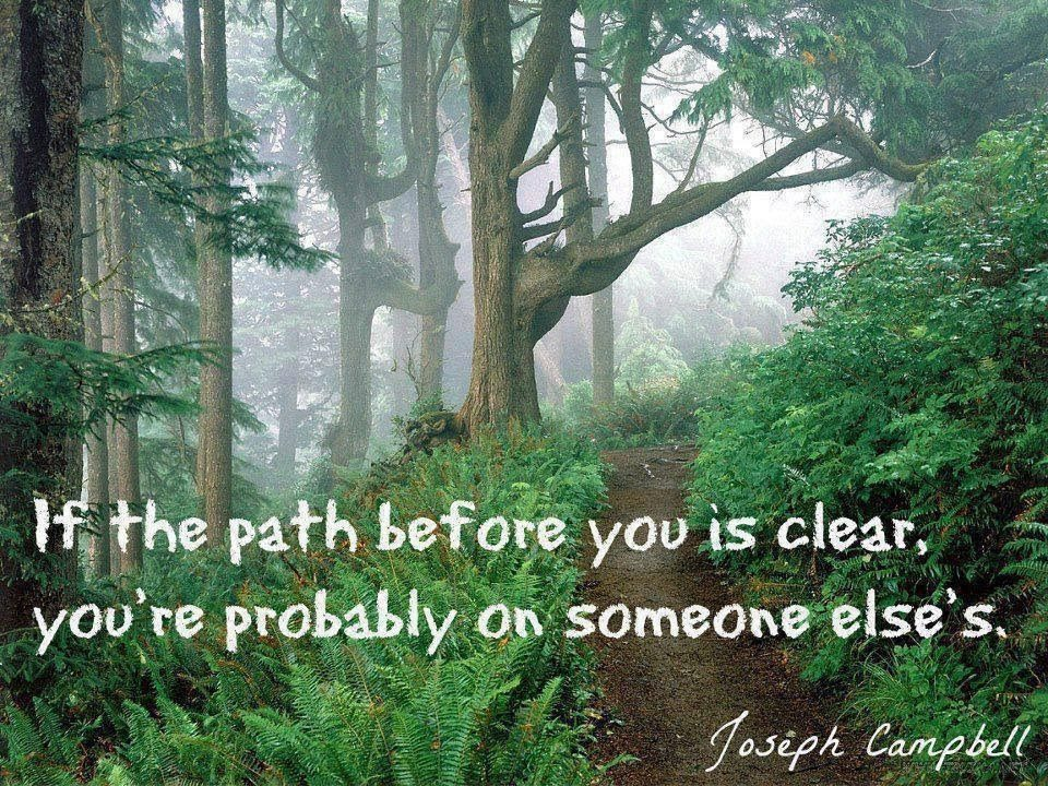 forest path with quote