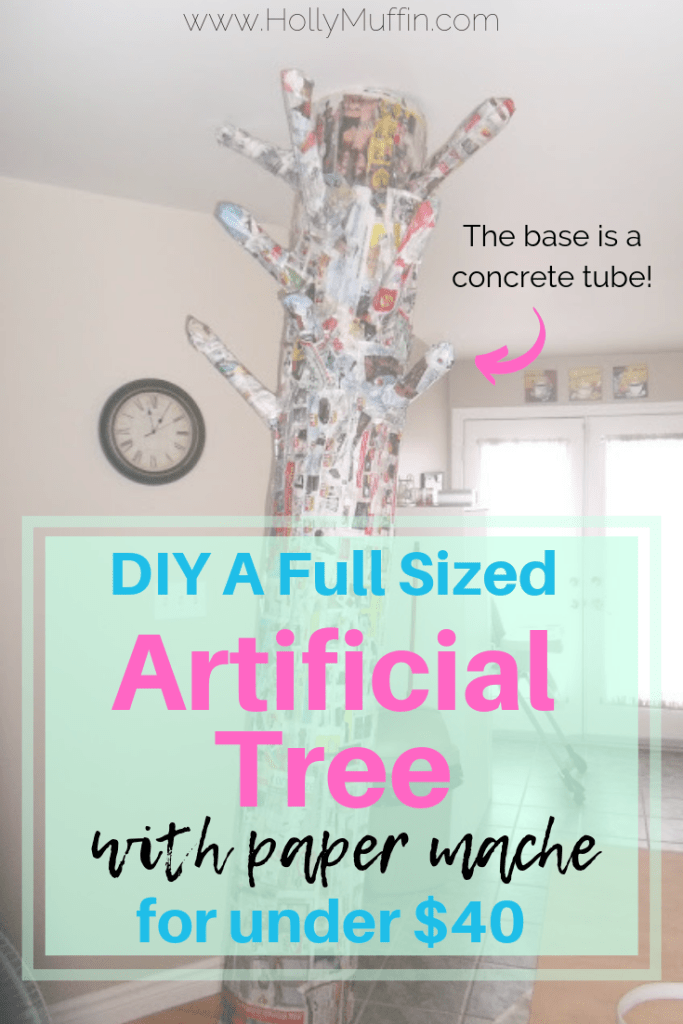 DIY an artificial paper mache tree for under $40! Perfect for an enchanted forest bedroom.