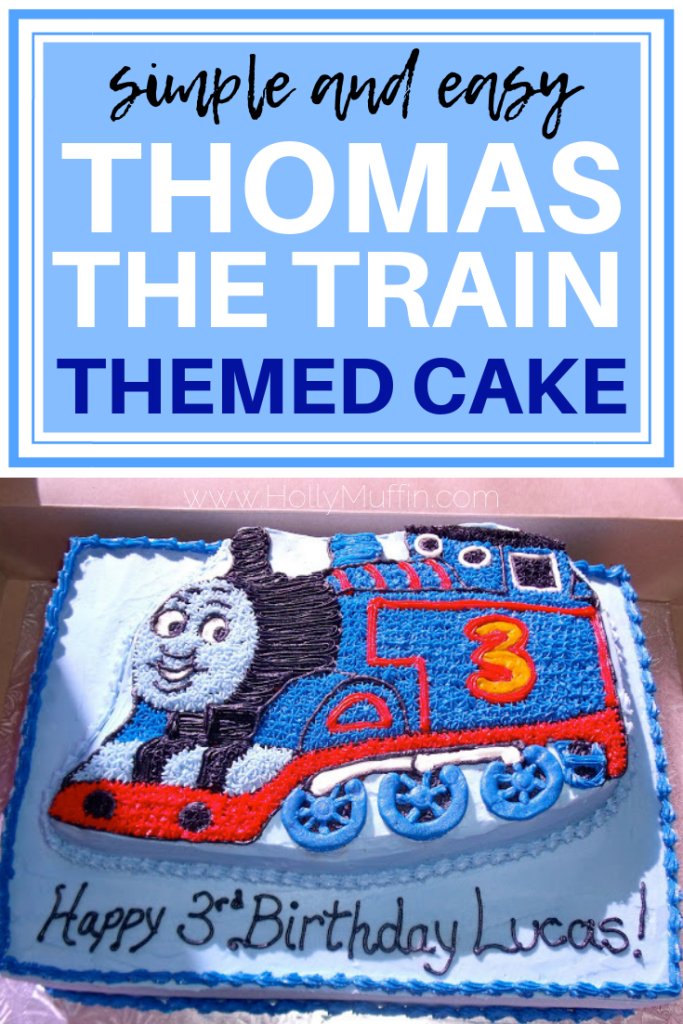 Simple and easy Thomas the train themed cake