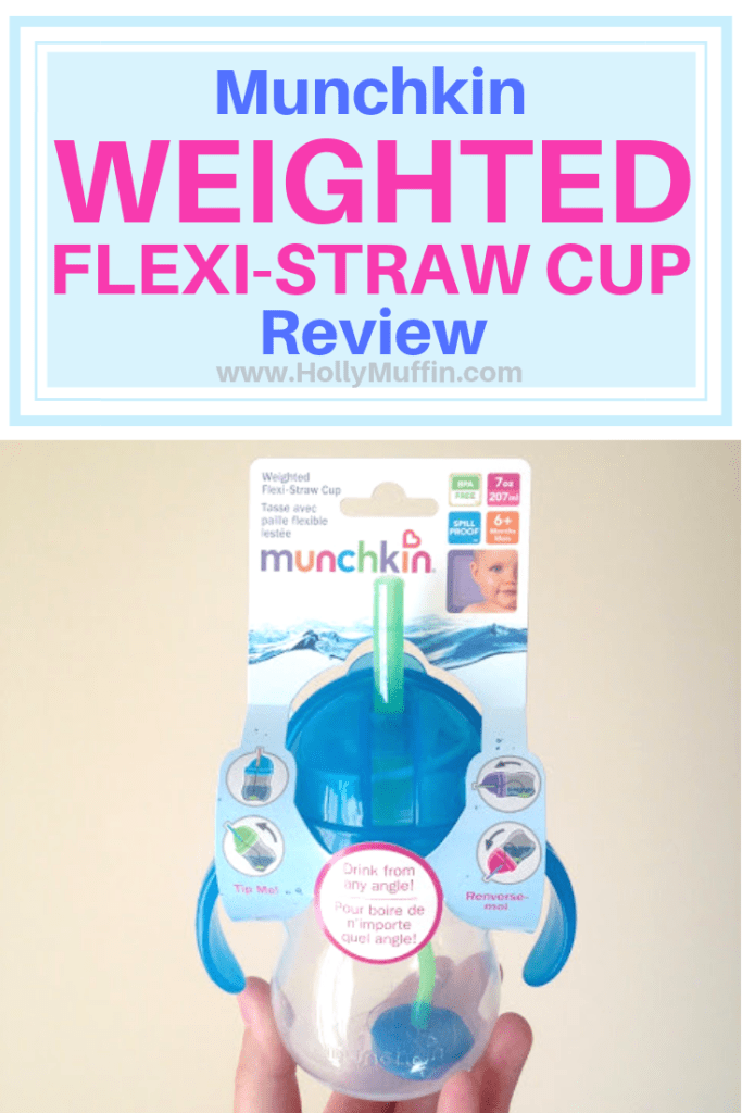 Munchkin weighted flexi straw cup review!