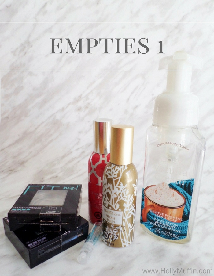 Empties - Bath and Body Works and Maybelline