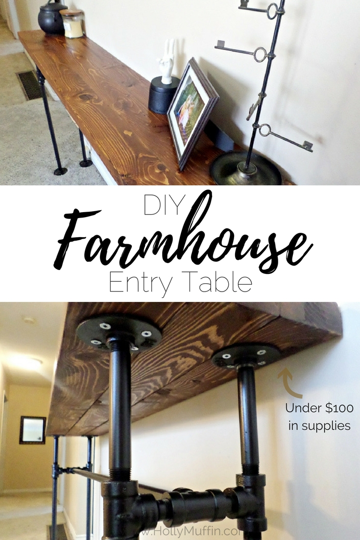 DIY Farmhouse Entry Tabe for under $100!