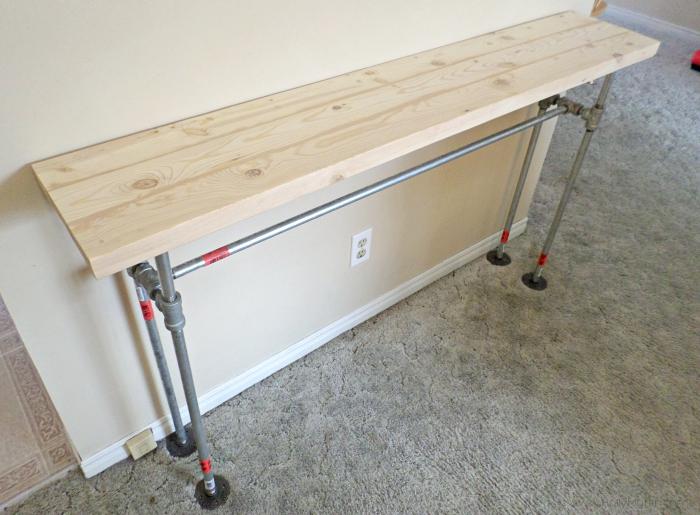farmhouse entry table DIY frame
