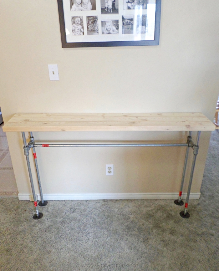 DIY pipe table frame