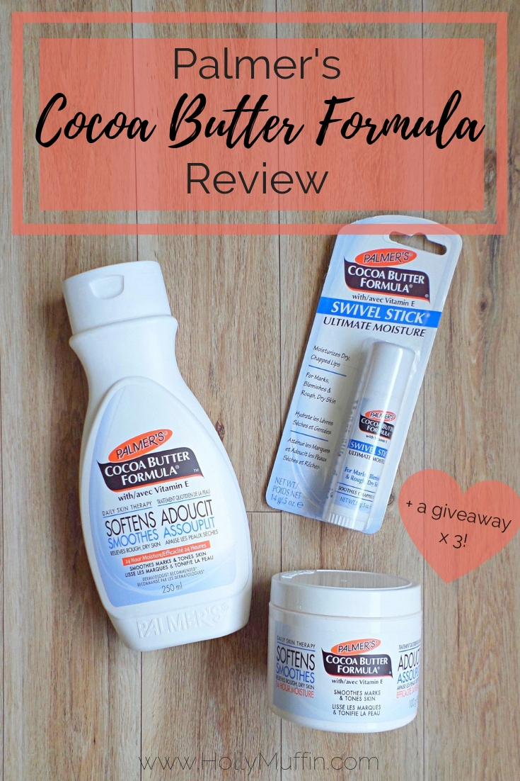 Palmers Cocoa Butter Formula Review (+ a Giveaway!)