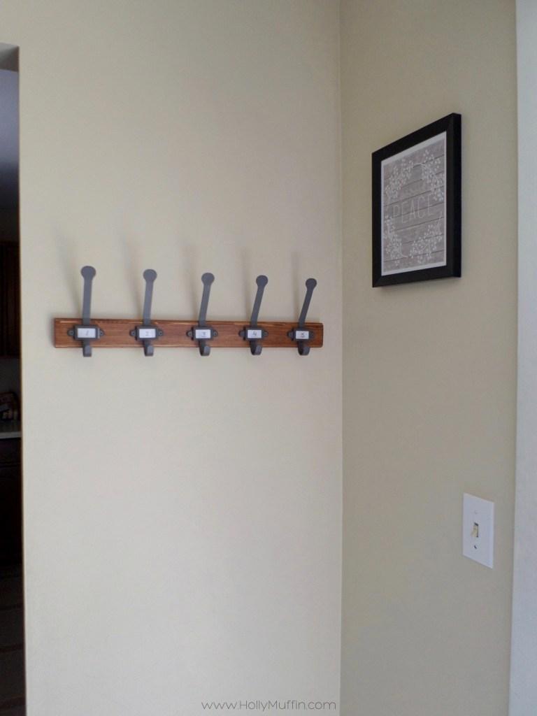 Ikea farmhouse hooks DIY