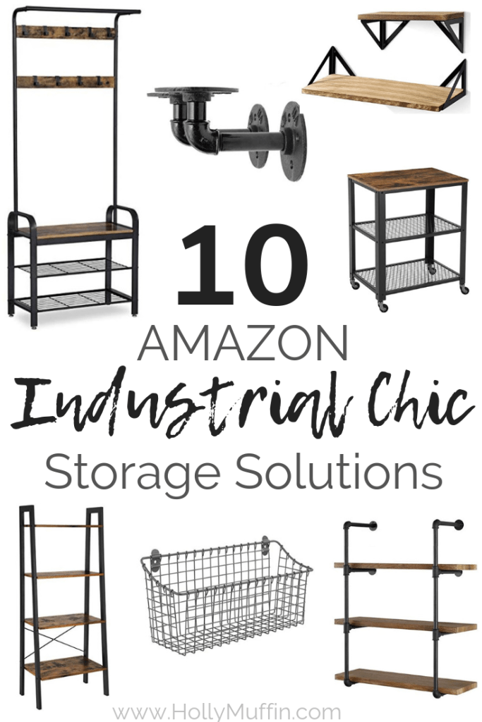 10 Amazon Industrial Chic Storage Solutions