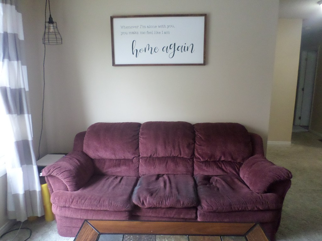 Our old red couch!