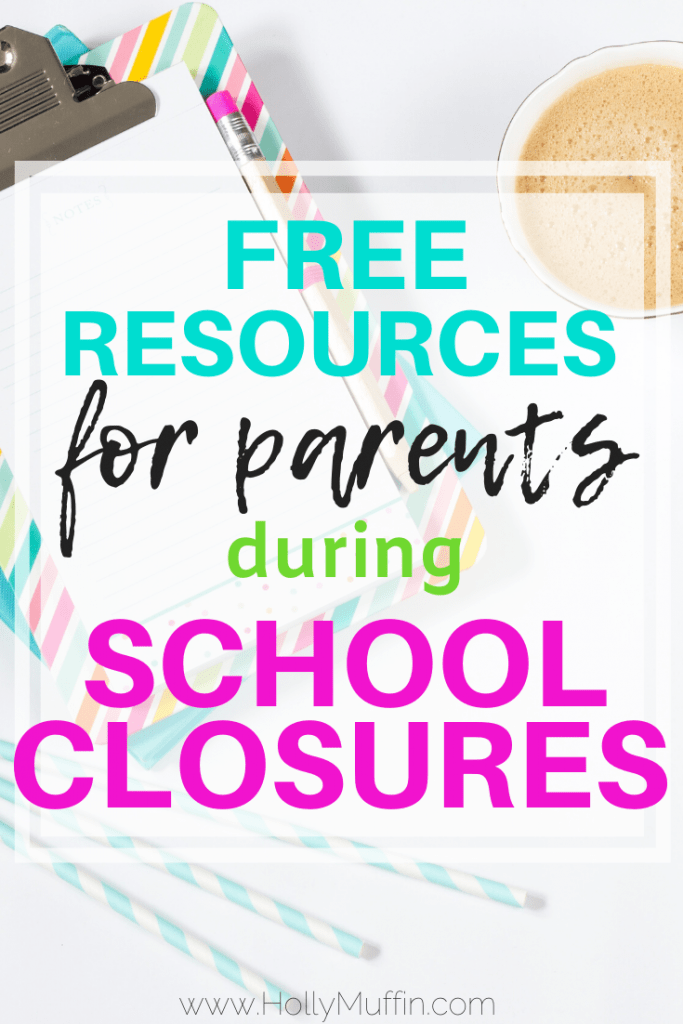 Here are the free resources for parents during school closures that we're using!
