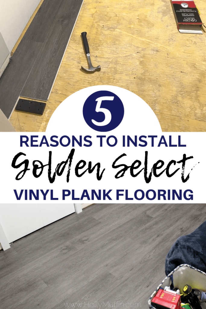 5 reasons to install Golden Select vinyl plank flooring.