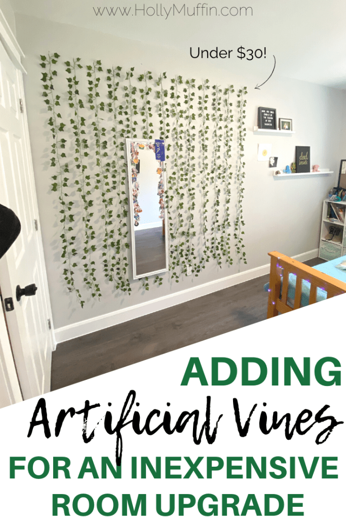 Adding artificial vines for an inexpensive room upgrade.