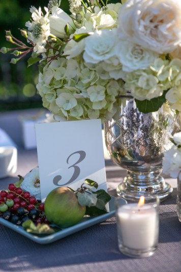 Fruit adorned table numbers