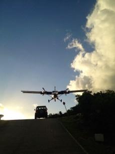 actual landing over my head!
