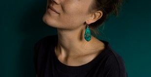 Botanical Gemstone Drop Earrings