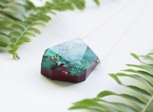 Botanical Gemstone Element Necklace