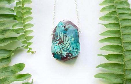 Botanical Gemstone Necklace