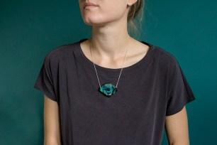 Large Bontanical Gemstone Necklace