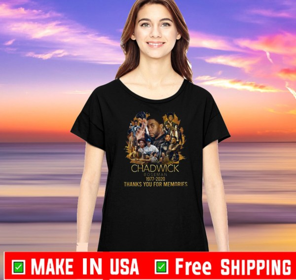 Black Panther Chadwick Boseman 1977 2020 Thanks You For Memories Tee Shirt