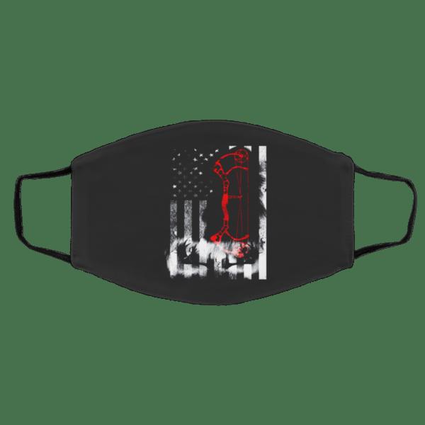 D-ee-r Hu-n-tin-g U-s Fl-ag Face Mask