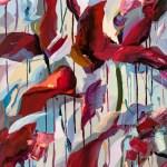 Beckoning New Abstract Floral Painting Holly Van Hart