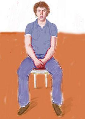 £££ David Hockney paint entitled Dominic Elliott